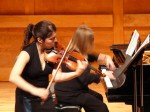 Stanichka Dimitrova and Bethany Porter performing Violin Sonata No. 1