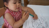 Have a look at this baby girl, coloring in a coloring book. She is enjoying the sensory experience of it, the tactile sensation of having crayons in her hand and...
