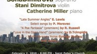 In an upcoming recital, Soprano Sofia Dimitrova will premiere a new song cycle of mine, A Poe Fantasia, based on poems of Edgar Allan Poe. The concert will be Tuesday,...