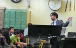 Lecturing at the Bronx High School of Science