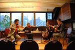 "PUBLIQuartet performs ""Adagio for String Quartet"" at Bargemusic (rehearsal pic)"