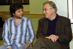 with composer Paul Moravec at the New York Composers Circle