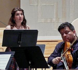 Sofia Dimitrova sings, with violist Edmundo Ramirez